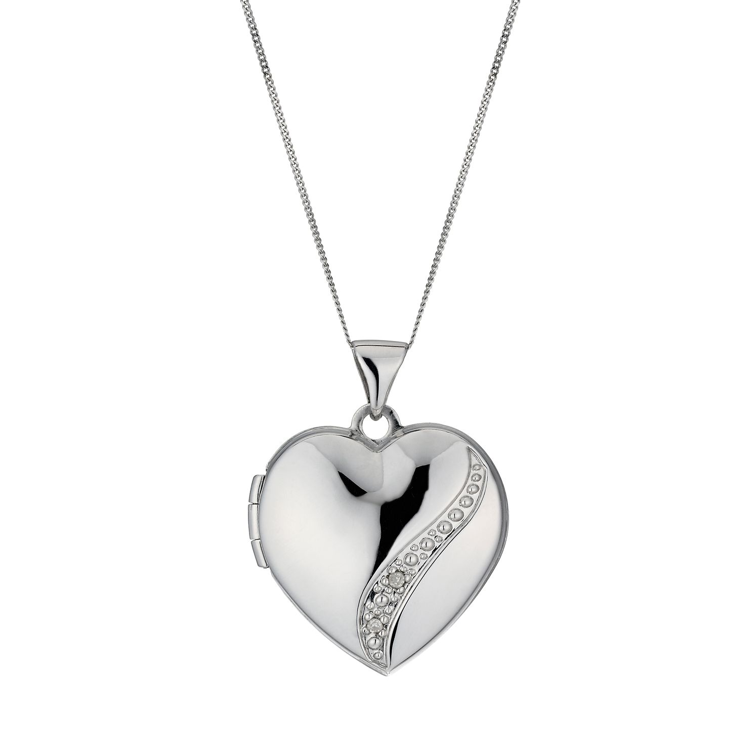 sterling memorial shop disc imprint for initial jewellery lockets ashes planished half heart pendant her silver