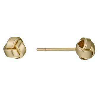 9ct Yellow Gold Polished Knot Stud Earrings - Product number 1003283