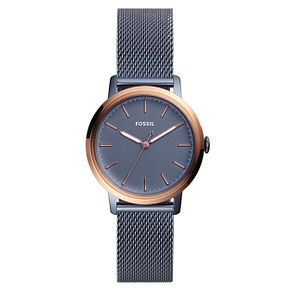 Fossil Ladies' Blue Stainless Steel Bracelet Watch - Product number 1005863