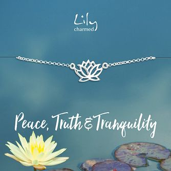 Lily Charmed Silver Lotus Bracelet - Product number 1011359