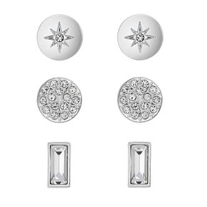 Buckley London Rhodium Plated Interchangable Earrings Set - Product number 1011928