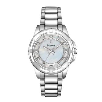 Bulova Ladies' Crystal Stainless Steel Bracelet Watch - Product number 1012991