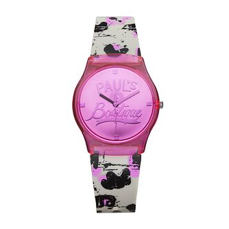 Paul's Boutique Pink Dial Multi-coloured Strap Watch - Product number 1014552