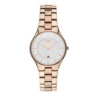 Storm Ladies' Slim X Rose Gold-Plated Bracelet Watch - Product number 1014943