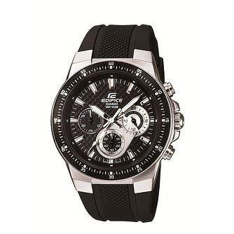 Casio Edifice Black Rubber Strap Watch - Product number 1015966