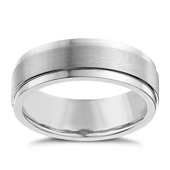 Cobalt men's matt & polished band ring - Product number 1017497
