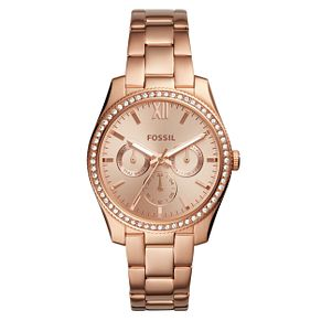 Fossil Ladies' Rose Gold Plated Bracelet Watch - Product number 1019899