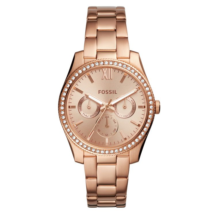 Fossil Scarlette Ladies' Rose Gold Plated Bracelet Watch - Product number 1019899