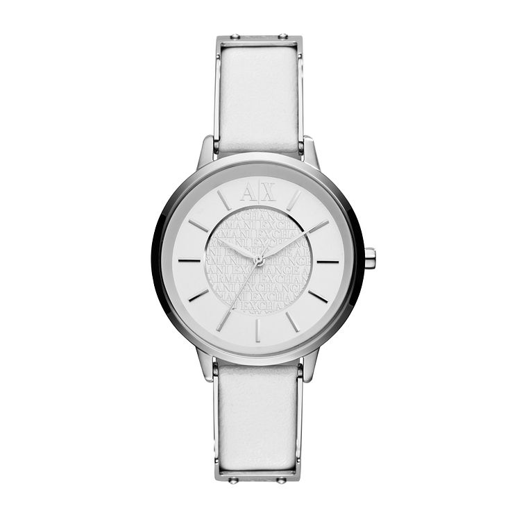 Armani Exchange Ladies' White Leather Strap Watch - Product number 1021311