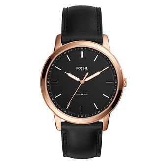 Fossil The Minimalist Men's Black Leather Strap Watch - Product number 1022997