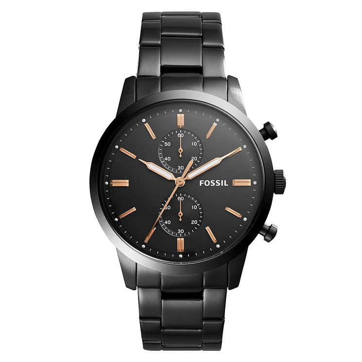 Fossil Townsman Men's Black Stainless Steel Bracelet Watch - Product number 1023012