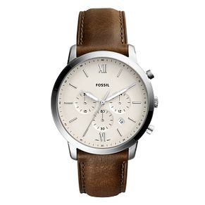 Fossil Men's Brown Leather Strap Watch - Product number 1023020