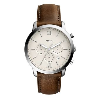 Fossil Neutra Chrono Men's Brown Leather Strap Watch - Product number 1023020