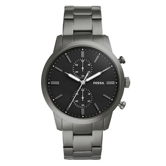 Fossil Townsman Men's Gunmetal IP Chronograph Bracelet Watch - Product number 1023268