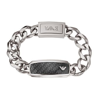 Emporio Armani Men's Stainless Steel & Carbon Fibre Bracelet - Product number 1027239
