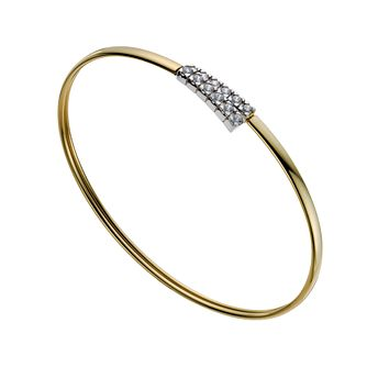 Together Silver & 9ct Bonded Gold Cubic Zirconia Bangle - Product number 1029185