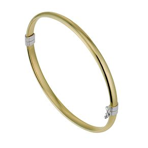Together Silver & 9ct Bonded Yellow Gold Bangle - Product number 1029282