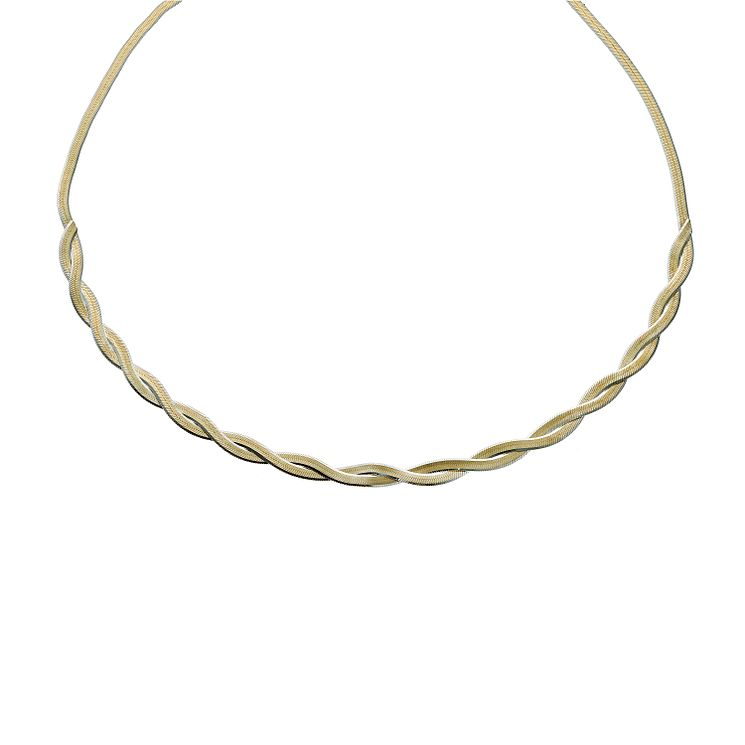 Together Bonded Silver & Gold 2 Colour Herringbone Necklace - Product number 1029363