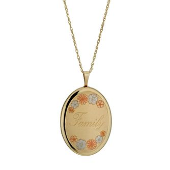 "Together Silver & 9ct Bonded Gold 18"" Family Locket - Product number 1031430"