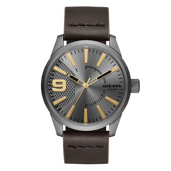 Diesel Rasp Men's Brown Leather Strap Watch - Product number 1031554