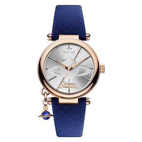 Vivienne Westwood Orb Ladies' Silver Dial Blue Strap Watch - Product number 1031694
