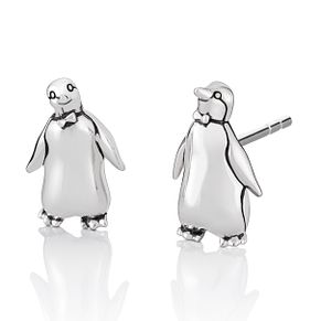 Chamilia Disney Mary Poppins Tuxedo Penguin Stud Earrings - Product number 1031988
