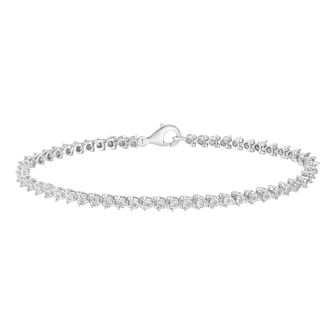 Silver & Diamond Illusion Tennis Bracelet - Product number 1034200