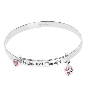 Disney Children's Aristocats Silver Marie Bangle - Product number 1034219