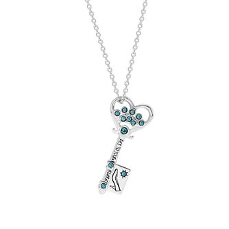 Disney Children's Cinderella Silver Key Pendant - Product number 1034316
