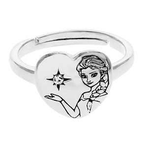 Disney Children's Frozen Silver & Crystal Elsa Heart Ring - Product number 1034766