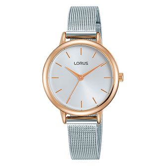 Lorus Ladies' Stainless Steel Mesh Bracelet Watch - Product number 1035428