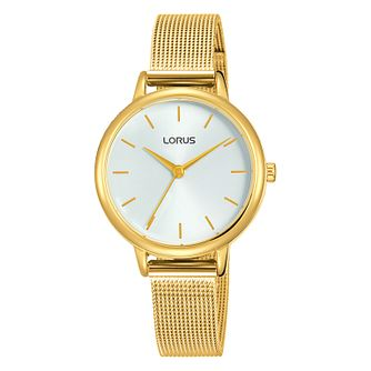Lorus Ladies' Gold Tone Stainless Steel Mesh Bracelet Watch - Product number 1035436