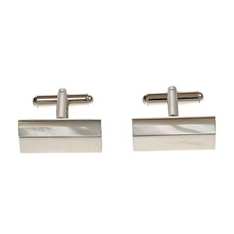 Simon Carter mother of pearl polished rectangle cufflinks - Product number 1036491