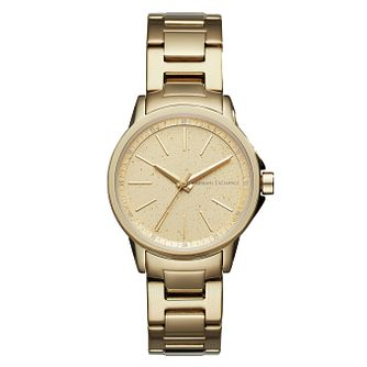 Armani Exchange Lady Banks Ladies' Gold Plated Watch - Product number 1040618