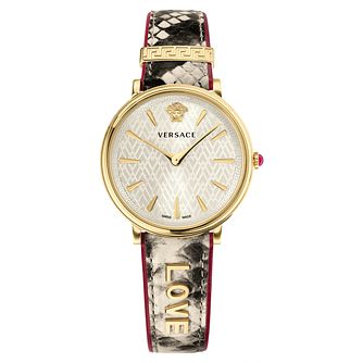 Versace V-Circle Ladies' Snake Print Leather Strap Watch - Product number 1041355