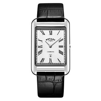 Rotary Men's Cambridge Black Leather Strap Watch - Product number 1042653