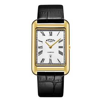 Rotary Men's Cambridge Black Leather Strap Watch - Product number 1042661