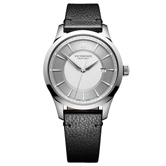 Victorinox Alliance Men's Black Leather Strap Watch - Product number 1044966