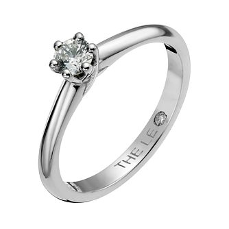 Leo Diamond platinum 1/4ct I-SI2 solitaire ring - Product number 1049410