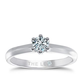 Leo Diamond platinum 1/3ct I-SI2 solitaire ring - Product number 1049550