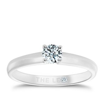 Leo Diamond 18ct white gold 0.33ct I-I1 solitaire ring - Product number 1050737