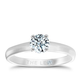 Leo Diamond 18ct white gold 0.40ct I-I1 solitaire ring - Product number 1050877