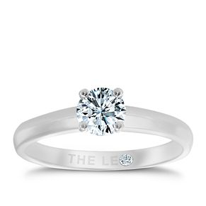 Leo Diamond platinum 2/5ct I-I1 solitaire ring - Product number 1051660