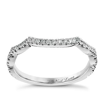 Neil Lane 14ct white gold 0.18ct diamond band - Product number 1052306