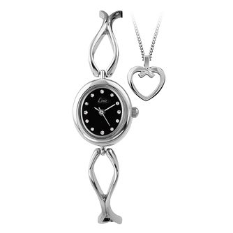 Limit Silver Bracelet Watch & Heart Pendant Set - Product number 1054562