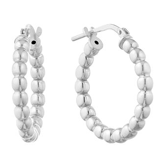 Silver Ball Hoop Earrings - Product number 1058479