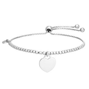 Silver Heart Adjustable Ball Bracelet - Product number 1059122