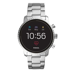 Fossil Q Explorist HR Gen 4 Stainless Steel Smartwatch - Product number 1060961