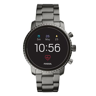 Fossil Q Explorist HR Gen 4 Men's Gunmetal IP Smartwatch - Product number 1060988