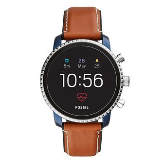 Fossil Q Gen 4 Men's Explorist Blue IP Smartwatch - Product number 1060996